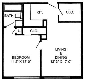 Lake Worth Tower One Bedroom